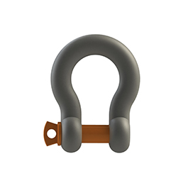 US.Type Drop Forged Bow Shackle G-209 With Orange Pin Safety Factor 1.6
